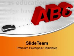 Computer Mouse With Letters Abc Powerpoint Templates Ppt Themes And Graphics 0213