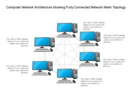 Computer Network Architecture Showing Fully Connected Network Mesh Topology