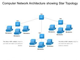 Computer Network Architecture Showing Star Topology