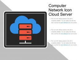 Computer Network Icon Cloud Server