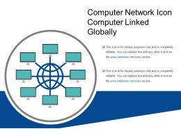 Computer Network Icon Computer Linked Globally