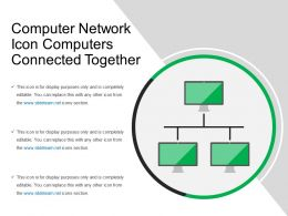 Computer Network Icon Computers Connected Together