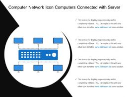 Computer Network Icon Computers Connected With Server