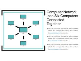 Computer Network Icon Six Computers Connected Together