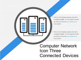 Computer Network Icon Three Connected Devices