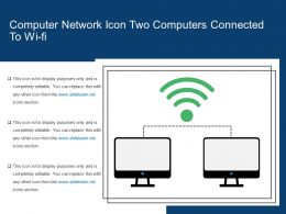 Computer Network Icon Two Computers Connected To Wi Fi