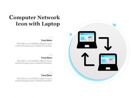 Computer Network Icon With Laptop