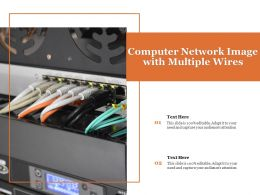 Computer Network Image With Multiple Wires