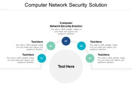 Computer Network Security Solution Ppt Powerpoint Presentation Professional Graphics Cpb