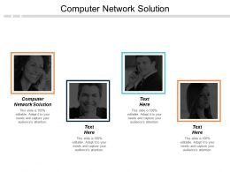 Computer Network Solution Ppt Powerpoint Presentation Layouts Master Slide Cpb