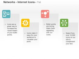 Computer Networking Cog Hierarchy Connectivity Ppt Icons Graphics