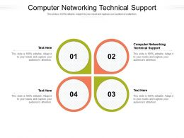 Computer Networking Technical Support Ppt Powerpoint Presentation Infographics Graphic Tips Cpb