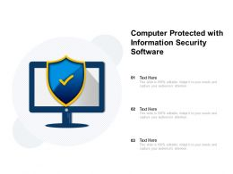 Computer Protected With Information Security Software