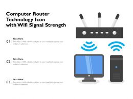 Computer Router Technology Icon With Wifi Signal Strength