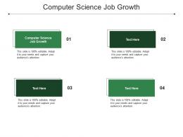 Computer Science Job Growth Ppt Powerpoint Presentation Visual Aids Backgrounds Cpb