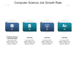 Computer Science Job Growth Rate Ppt Powerpoint Presentation Pictures Visuals Cpb
