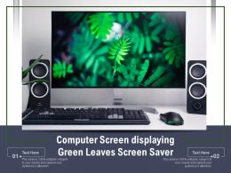 Computer Screen Displaying Green Leaves Screen Saver