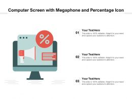 Computer Screen With Megaphone And Percentage Icon