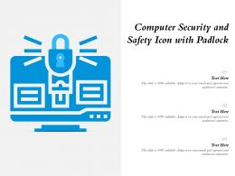 Computer Security And Safety Icon With Padlock