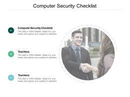 Computer Security Checklist Ppt Powerpoint Presentation Ideas Skills Cpb