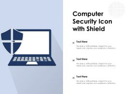 Computer Security Icon With Shield