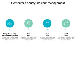 Computer Security Incident Management Ppt Powerpoint Presentation Gallery Summary Cpb