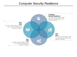 Computer Security Resilience Ppt Powerpoint Presentation Professional Ideas Cpb