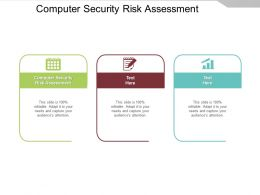 Computer Security Risk Assessment Ppt Powerpoint Presentation Outline Vector Cpb