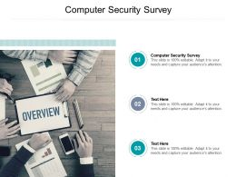 Computer Security Survey Ppt Powerpoint Presentation Outline Slides Cpb