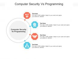 Computer Security Vs Programming Ppt Powerpoint Presentation Show Information Cpb