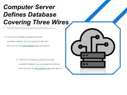 Computer Server Defines Database Covering Three Wires