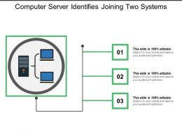 Computer Server Identifies Joining Two Systems