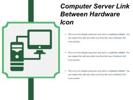 Computer Server Link Between Hardware Icon