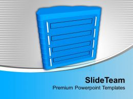 Computer Server With Cloud Shape Structure Powerpoint Templates Ppt Themes And Graphics 0213