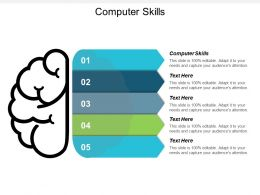 Computer Skills Ppt Powerpoint Presentation File Samples Cpb