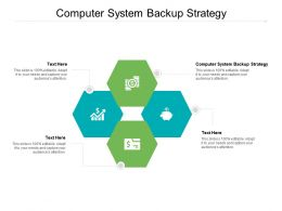 Computer System Backup Strategy Ppt Powerpoint Presentation Inspiration Slides Cpb