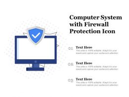 Computer System With Firewall Protection Icon