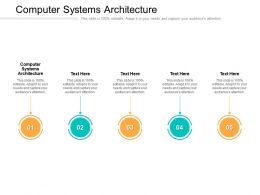 Computer Systems Architecture Ppt Powerpoint Presentation Show Example File Cpb