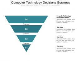Computer Technology Decisions Business Ppt Powerpoint Presentation Inspiration Cpb