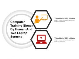 Computer Training Shown By Human And Two Laptop Screens