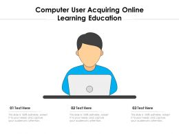 Computer User Acquiring Online Learning Education