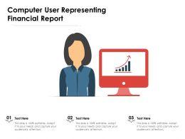Computer User Representing Financial Report