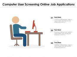 Computer User Screening Online Job Applications