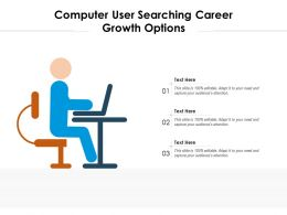 Computer User Searching Career Growth Options
