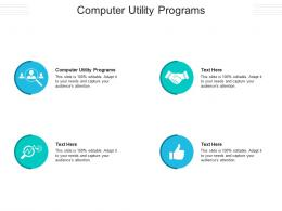 Computer Utility Programs Ppt Powerpoint Presentation File Show Cpb