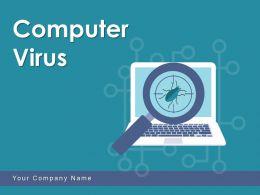 Computer Virus Protection Symbol Analysis Process Scanning Gear