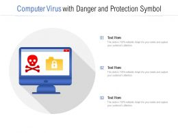 Computer Virus With Danger And Protection Symbol