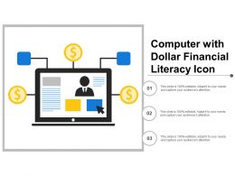 Computer With Dollar Financial Literacy Icon
