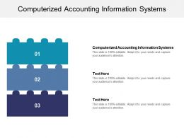 Computerized Accounting Information Systems Ppt Powerpoint Presentation Portfolio Visual Aids Cpb