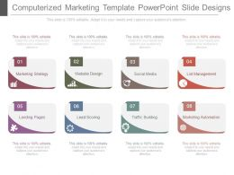 Computerized Marketing Template Powerpoint Slide Designs